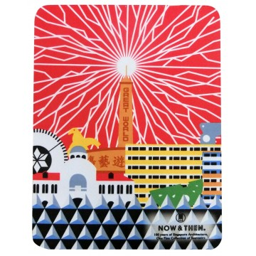 MOUSEPAD 3-IN-1 MICROFIBRE ICONIC ARCHITECTURE RED