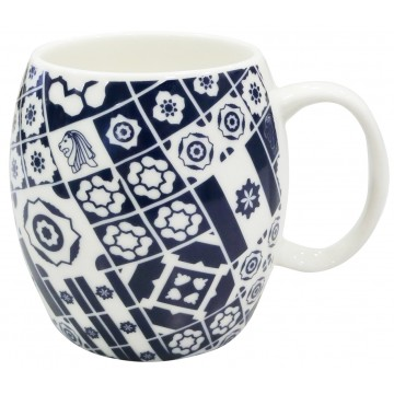 MUG PERANAKAN MIX NAVY BLUE