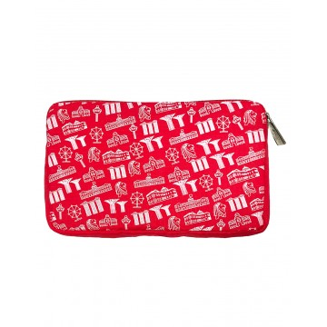 POUCH MOTIF RED