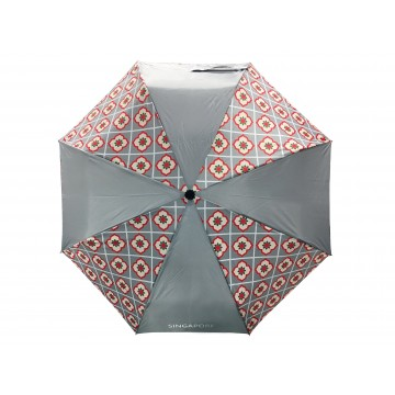 FOLDABLE UMBRELLA PERANAKAN GREY