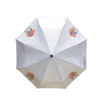 FOLDABLE UMBRELLA PERANAKAN SILVER
