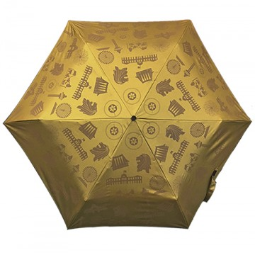 FOLDABLE UMBRELLA MOTIF GOLD (LIGHTWEIGHT & UV COATED)